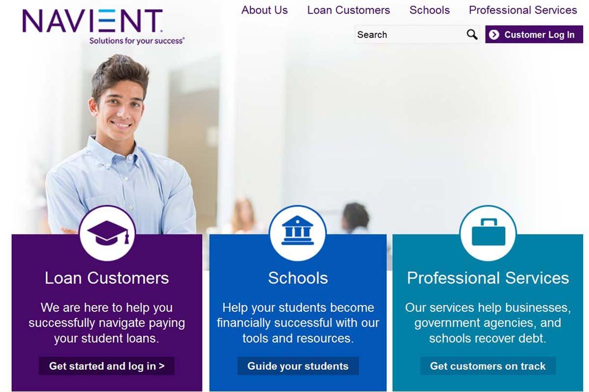 Pagar empréstimo do estudante navient com cartão de crédito