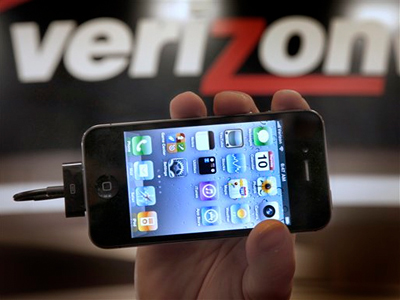 Behold the Verizon iPhone 4: subject of the biggest, most wildly hyped technology launch since, um, AT&T´s iPhone 4. Maybe even since the iPad. (AP Photo/Amy Sancetta)