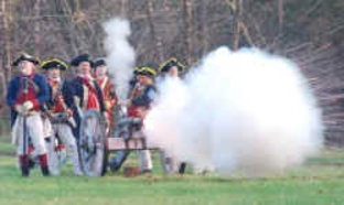 Reenactment of Battle of Iron Hill