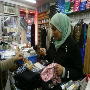 Aisha Alam likes to shop at Islam Fashion in Queens, N.Y. (Photo by Zoe Read/CNS)
