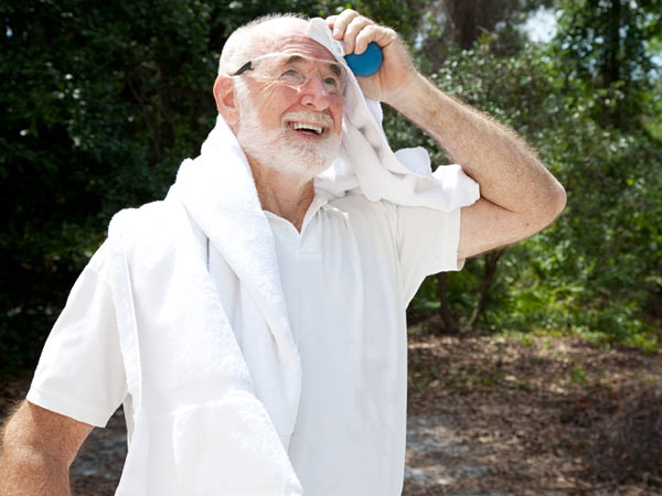 Towels should help sweaty father (iStock photo).