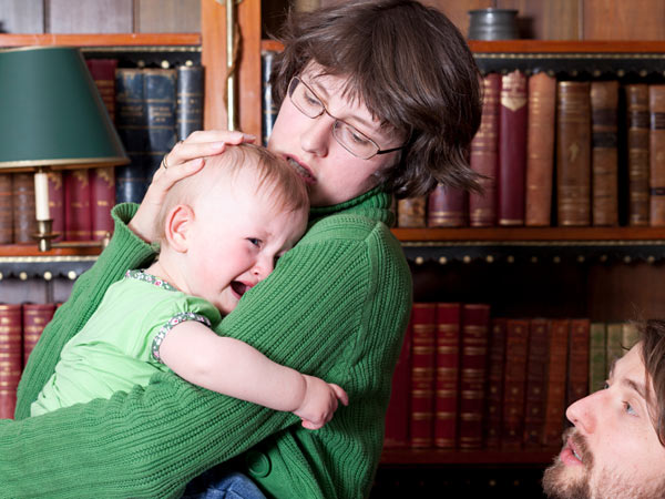 How can she make her son take responsibility for his child? (iStock photo)