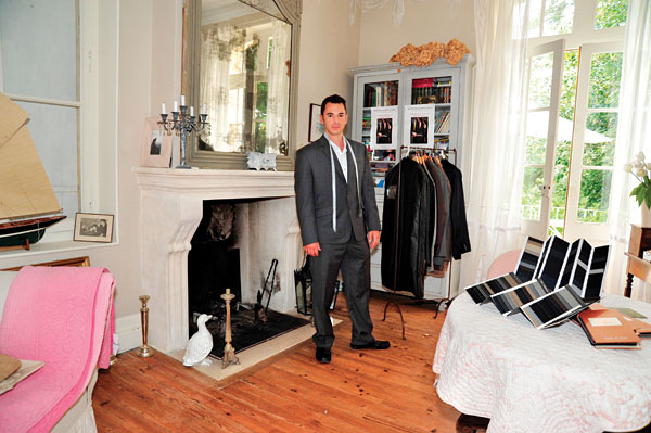 Matt Salignac of Tailored Suits Paris in the Bordeaux chateau where the firm is based. The French tailor uses only Italian fabrics and delivers clothing within 15 business days.