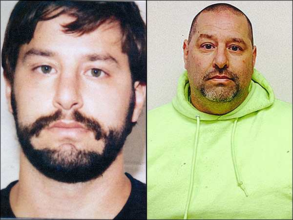 After a two-decade manhunt, New Jersey police have captured James Wade Barclay, a convicted sex offender who was one of the state´s top 12 most- wanted fugitives, authorities said on Monday. Photo at left is an old mug shot; photo at right is after his arrest Monday. (N.J. Public Safety)