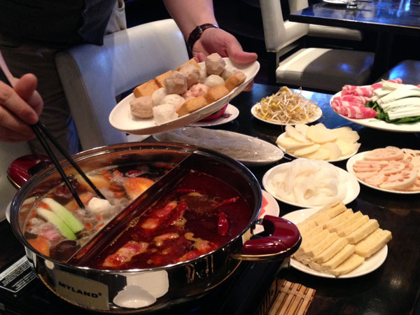 Jane G´s hot pot feast.