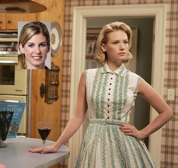"Hmmmm, maybe: Jennifer Carroll of 10 Arts, and January Jones as Betty Draper on ""Mad Men."""