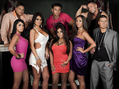 "The second-season cast of ""Jersey Shore,"" set in Miami Beach. The premiere opens with reflections on the Season 1 experience."