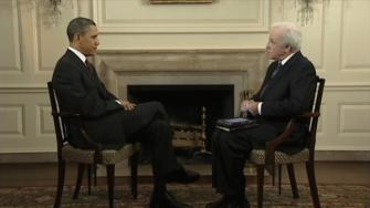 Channel 6 anchor Jim Gardner with President Obama