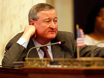 Councilman Jim Kenney asks a question during Tuesday´s session. He was concerned about tax burdens, a concerned echoed by taxpayers on Wednesday. (David Maialetti/Staff)