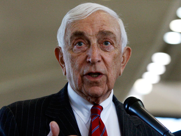 Sen. Frank Lautenberg got the flu and missed Senate vote today, which set off renewed speculation about whether he needs to quit Senate at age 88. (AP Photo/Mel Evans, File)