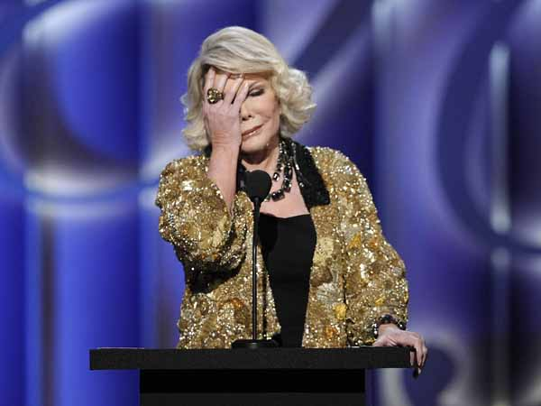 Joan Rivers, shaking her head and rolling her eyes. (AP Photo)