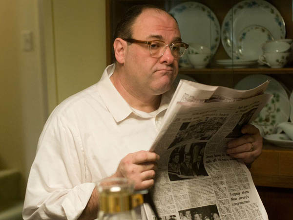 "SRANOT -- In this film image released by Paramount Vantage shows James Gandolfini, as Pat, in a scene from ""Not Fade Away."" (AP Photo/Paramount Vantage)"