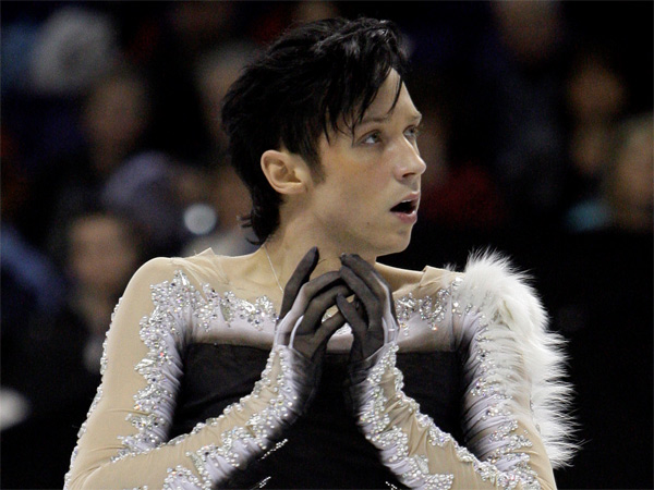 Figure skater Johnny Weir, who was born in Coatesville, at the U.S. championships in 2010. (Elaine Thompson / Associated Press)