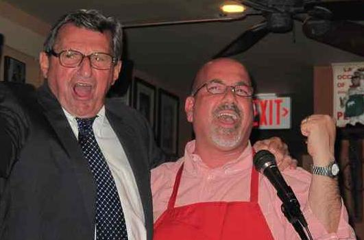 Paterno and Borda, hitting a note.