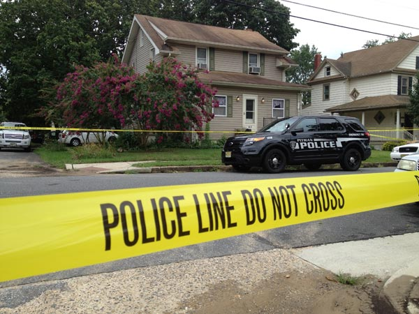 Scene of three deaths at 65 Kenton Ave, Pitman, NJ on August 13, 2013. ( David Swanson / Staff Photographer )