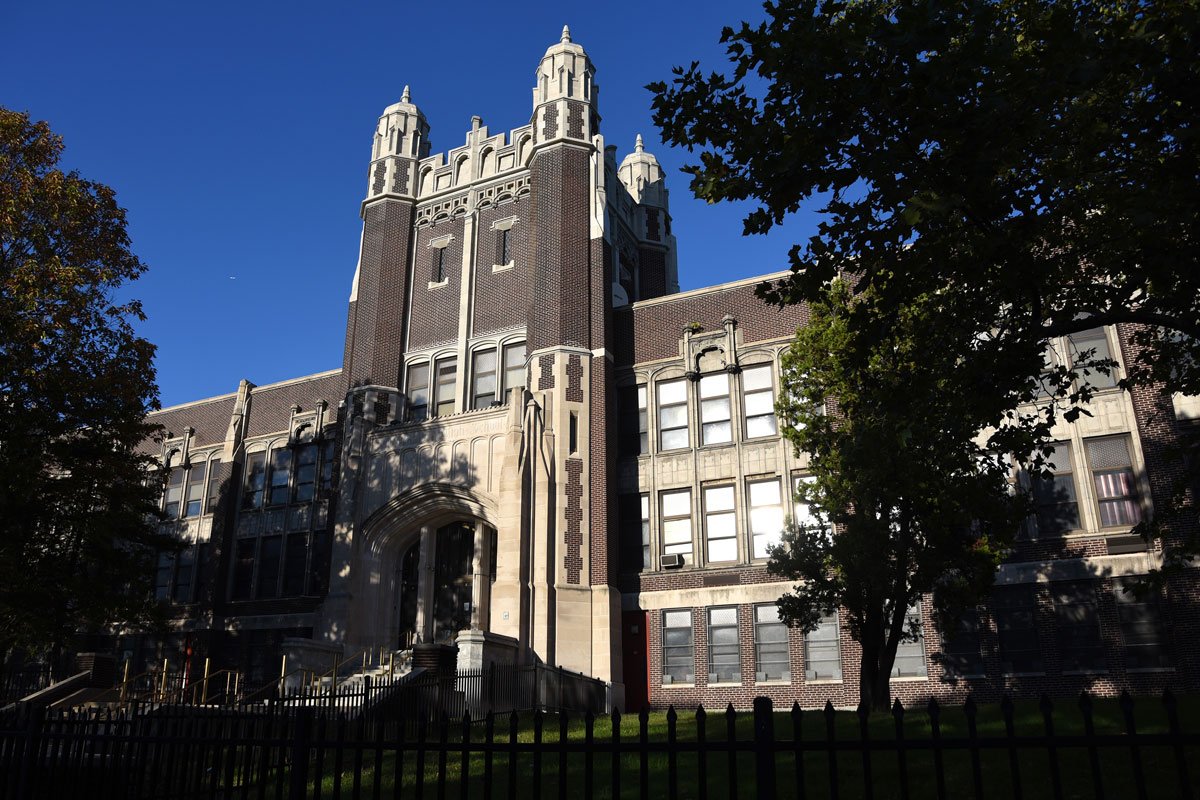 """Camden High School, the """"Castle on the Hill"""" in the city´s Parkside neighborhood. It has graduated its last class."""