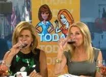 Kathie Lee (right) and Hoda taste the fruit of the vine
