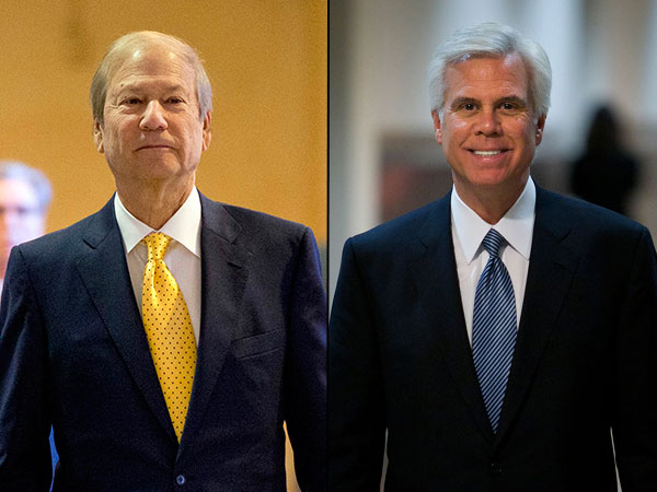 Lewis Katz, left, and George Norcross, right. (AP and staff photos)