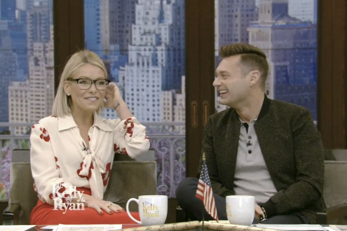 Kelly Ripa and Ryan Seacrest talk about Jim Gardner´s earring-finding interruption on 6ABC this week.
