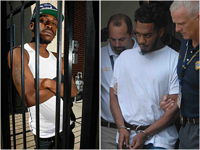 Kenny Woods (left) at his Mantua home. He was arrested last fall for a fatal hit-and-run that did not involve him and has since had trouble finding a job. Another man, Donnie Sayers, (right), was subsequently charged. (Alejandro A. Alvarez/Curt Hudson/Staff)