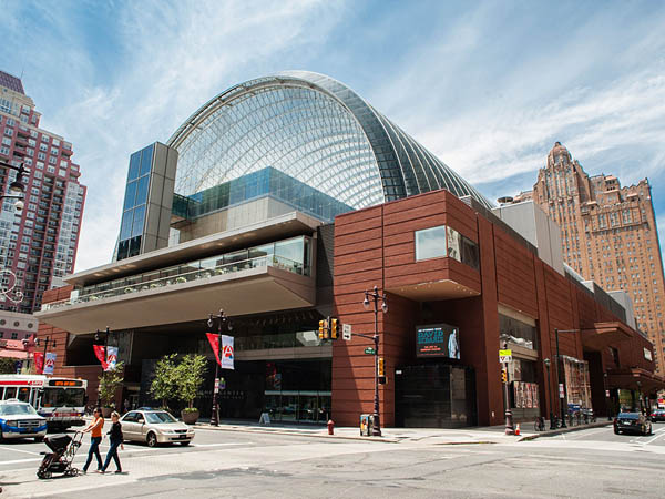 Philadelphia´s Kimmel Center For The Performing Arts was designed with ample open public space, but recent changes and renovations have dedicated much of that space to private uses. (Matthew Hall / Staff Photographer)