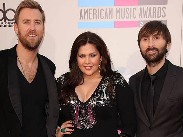 Charles Kelley,Hillary Scott,Dave Haywood, 2013 American Music Awards at Nokia Theatre L.A. Live  - Arrivals. (FayesVision/WENN.com)
