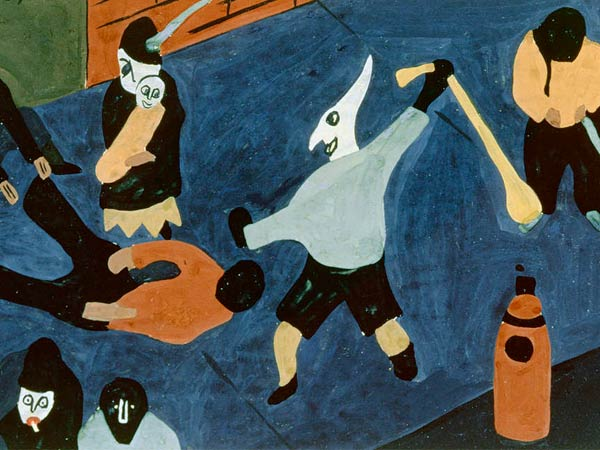 "Jacob Lawrence´s ""Street Scene,"" painted in 1937, offers a detail of why relations between white Americans and black Americans are forever shadowed by violence."