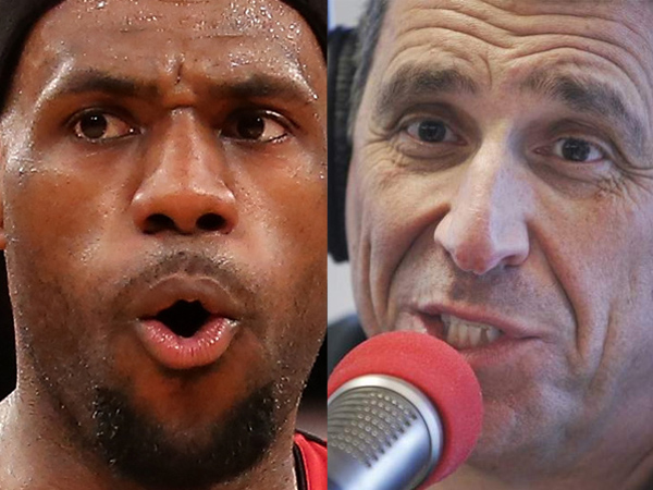 "It´s ""propaganda"" that basketball superstar LeBron James (left) is returning to Cleveland purely out of love for Northeast Ohio, WIP host Angelo Cataldi said. (File photos)"