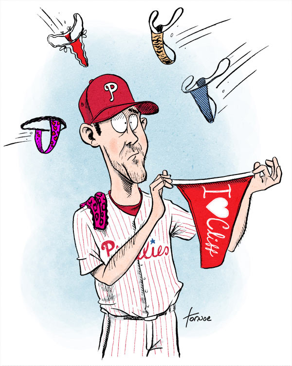 My first Cliff Lee cartoons. Fans still love him, but his time in Philly may be coming to an end.
