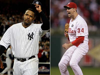 Cliff Lee and CC Sabathia will square off against one another in Game 1 of the World Series. (File Photos)