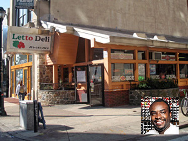 Sylva Senat (inset) will be chef of a restaurant coming to the former Letto Deli on 13th Street.