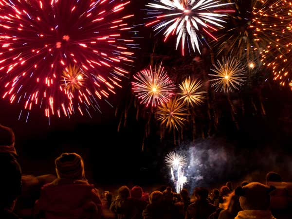 Your hands, fingers, head and eyes are at greatest risk for injury if you set off fireworks at home.