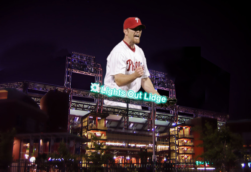 Brad Lidge has been lights out since he joined the Phillies.