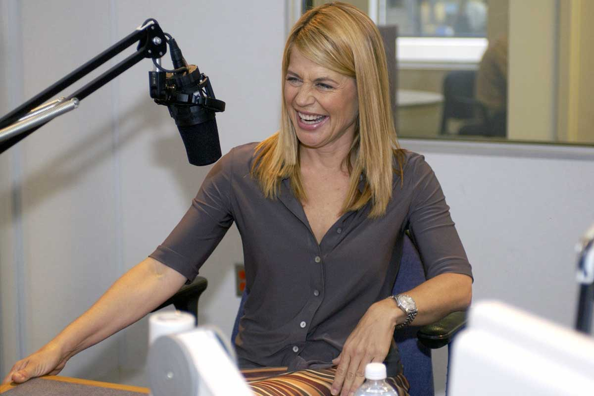 In this Sept. 9, 2004 file photo, actress Linda Hamilton laughs during an interview with the Associated Press in Washington.