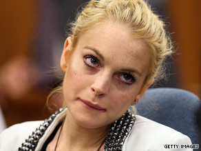 Lindsay Lohan in court.