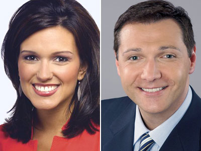 Former NBC10 co-anchors Lori Delgado and Vince DeMentri.