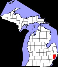 Macomb County, lower right.