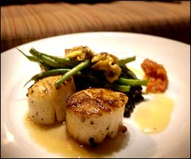 The scallop entree at Matyson.