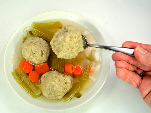 Matzo ball soup is one of the healthy Passover meals we chose for you this week.