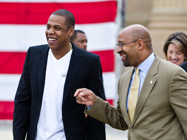 "One of Mayor Nutter´s top 10 songs from 2012 included Jay-Z and Kanye West ""Otis"". (COLIN KERRIGAN / Philly.com)"