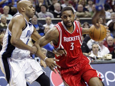 The Sixers have expressed interest in Tracy McGrady this season. (AP Photo)