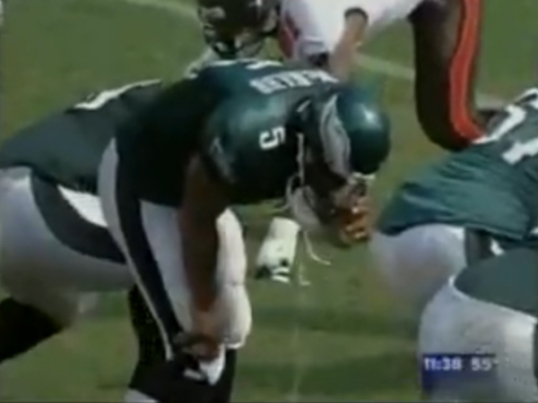 "Can puking be ""subtle""? It wasn´t when McNabb threw up during a 2006 game against Tampa Bay (above). Cornerback Lito Sheppard said he saw McNabb puke in the 2005 Super Bowl but it was ""subtle."""