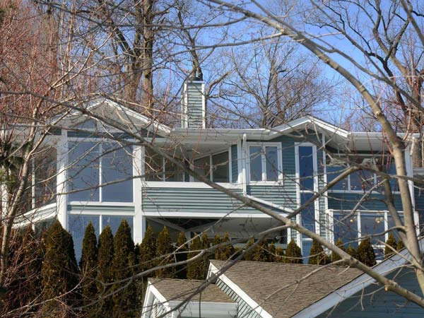 This town house on Garret Mountain in Clifton is priced about three times above the typical listing for the city. It includes multiple decks with views as far as the New York skyline and a room with a small indoor pool. (Carmine Galasso/The Record/MCT)