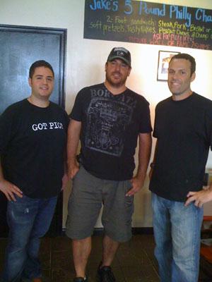 Dave Goldstein (center) with Jake´s partners Sean Stein (left) and Gary Dorfman.