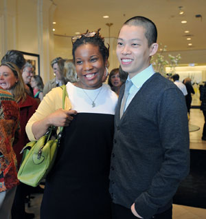 photo by Sharon Gekoski-Kimmel. Jason Wu and I in the Chandalier Room at Saks Fifth Avenue.