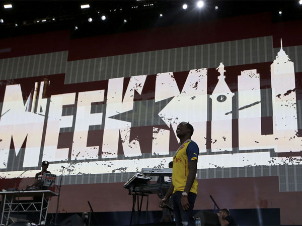 Meek Mill performs on the Rocky Stage during day one of Made In America along the Benjamin Franklin Parkway on Saturday, September 5, 2015.  ( YONG KIM / Staff Photographer )