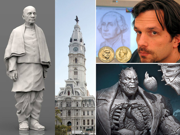 Sculptor Joseph Menna, who grew up in South Jersey and works at the U.S. Mint in Philadelphia, created the working model for the world´s largest statue, to be built in India, in addition to creating collectible versions of fantasy characters, such as Solomon Grundy.