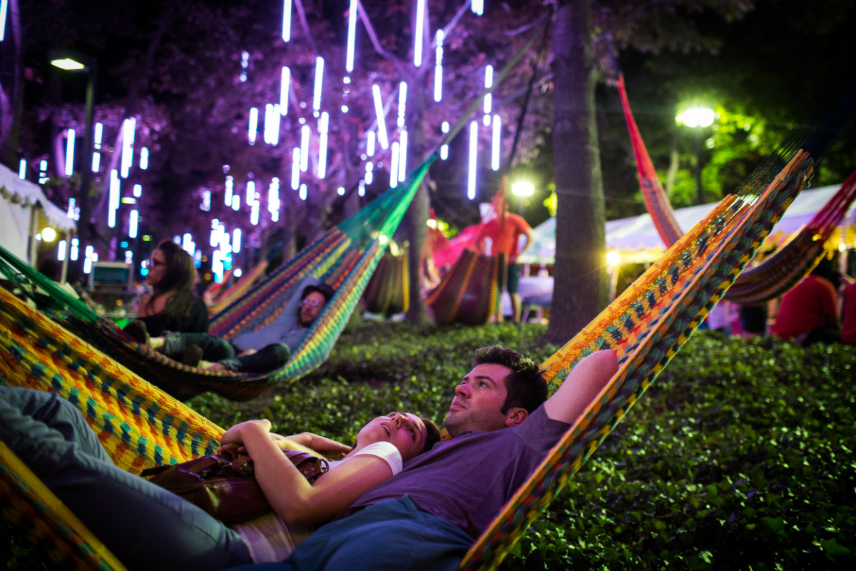 Celebrate National Hammock Day at Spruce Street Harbor Park