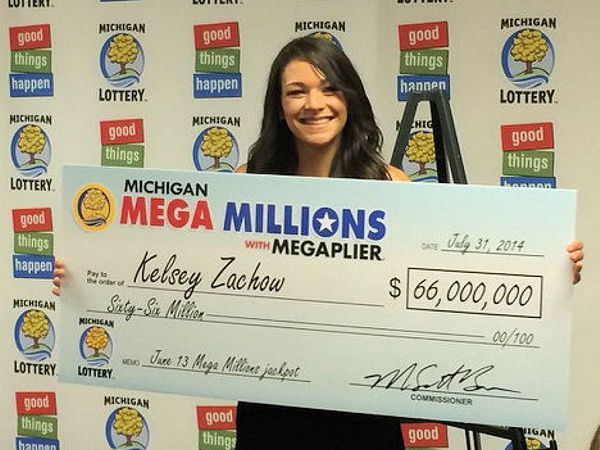 Kelsey Zachow of Port Huron, Mich., won Mega Millions in June 2014.