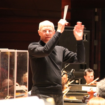 Krajewski in rehearsal last week with the Philly Pops.<br />Photo: Peter Dobrin/INQUIRER STAFF